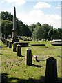 SP0892 : East boundary, Old Meeting House re-interments, Witton Cemetery by Robin Stott