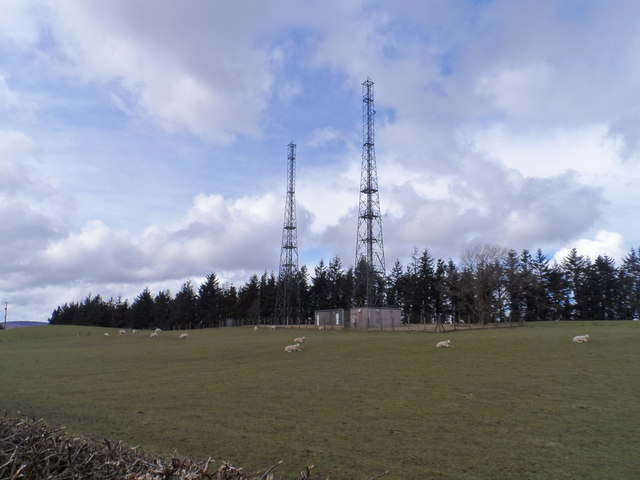 Hilltop wireless telegraphy masts