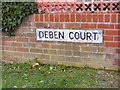 TM3055 : Deben Court sign by Geographer