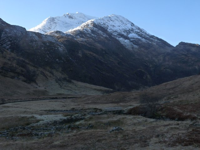 Steall ruins under the Mamores
