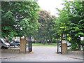 TQ3877 : Gates to St Alfege churchyard by Stephen Craven