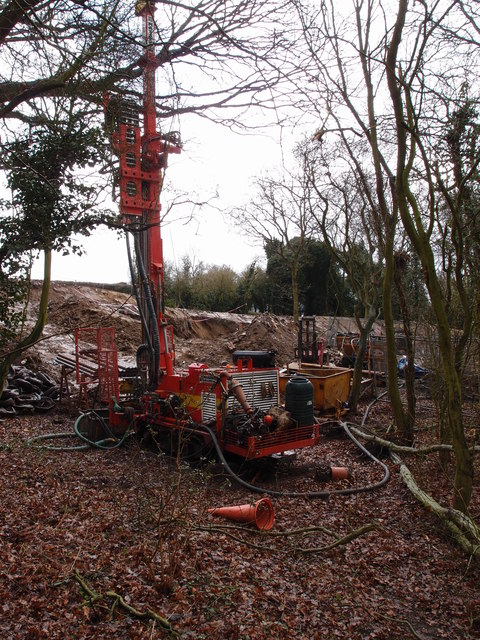Piling rig on a building site