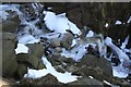 SK0889 : Winter scrambling in Nether Red Brook by Dave Dunford