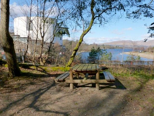 Picnic bench in Drumkinnon Wood
