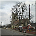 TL4352 : Hauxton: churchyard wall repairs by John Sutton