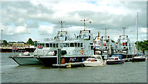 S6012 : Royal Navy boats, Waterford by Albert Bridge