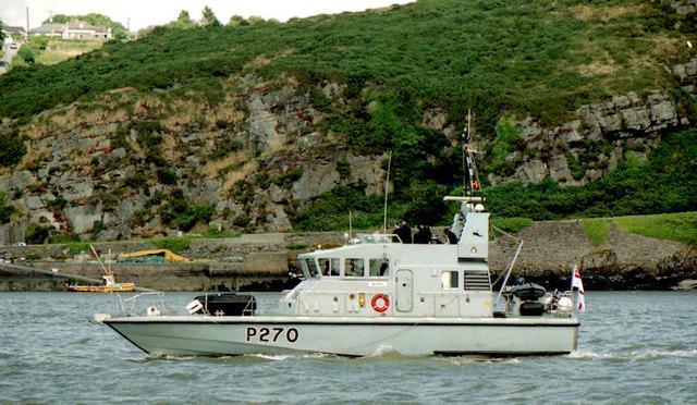 """HMS """"Biter"""", River Suir"""