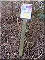 TM4468 : Open Access Map near the footpath by Adrian Cable