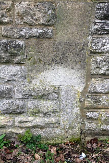 Benchmark on lodge of Ripon Hall