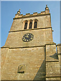 SK4968 : Timepieces on the church tower at St Leonards by Trevor Rickard