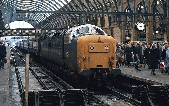Deltic at Platform 5 - King's Cross
