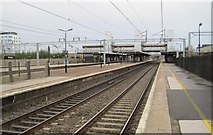 SP8633 : Bletchley railway station by Nigel Thompson