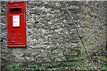 SP4902 : Benchmark and GR letter box in Berkeley Road wall by Roger Templeman