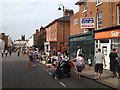 SP3265 : Clemens Street closed for a party – and a bit of shopping by Robin Stott