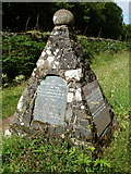 NM4339 : Ulva: the war memorial by Chris Downer
