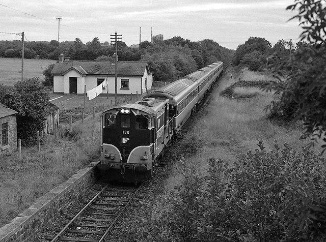 Special passenger train passing Duleek