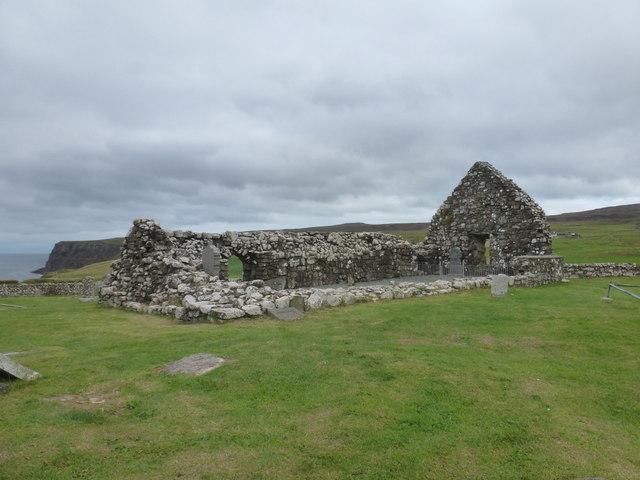 Trumpan: the old church