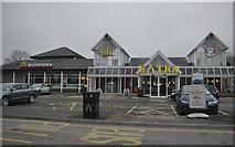 ST0207 : Cullompton : M5 Motorway Services by Lewis Clarke