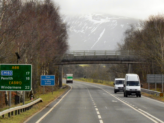 Bridge over the A66