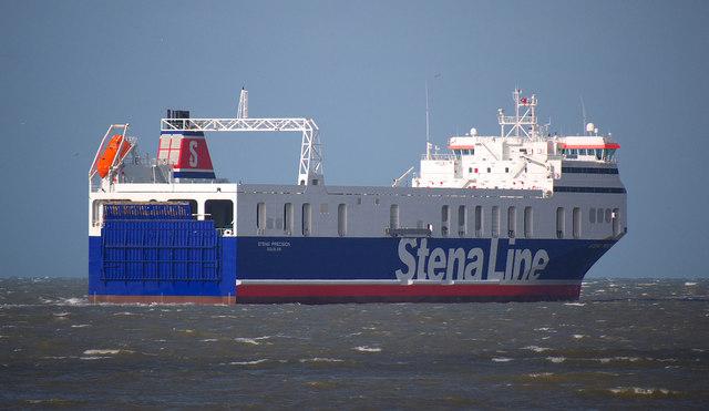 The 'Stena Precision' off Bangor