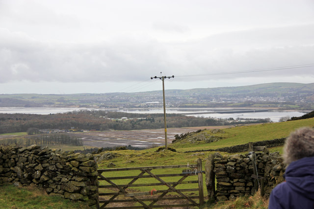 Over the fields to the Leven