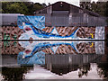 SO8963 : Shark in Netherwich Basin Droitwich by Gillie Rhodes