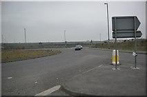 SX0362 : North Cornwall : A391 Junction with A30 by Lewis Clarke