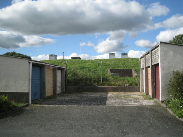 Lock-up garages, Bishop Wilfrid Road, Teignmouth