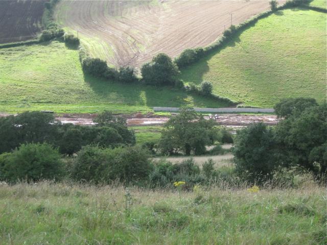 Muddy tracks, Broadmeadow, seen from Mill Lane