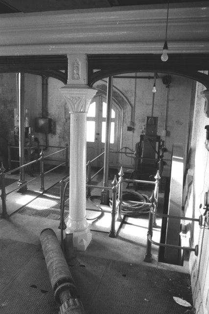 Snarestone Pumping Station - beam engine remains