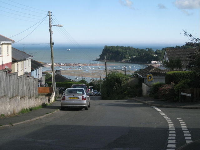 Mill Lane junction with Broadmeadow View, Teignmouth