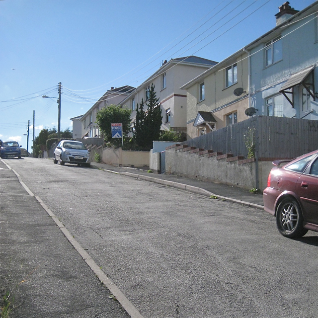 Looking up Hutchings Way, Teignmouth