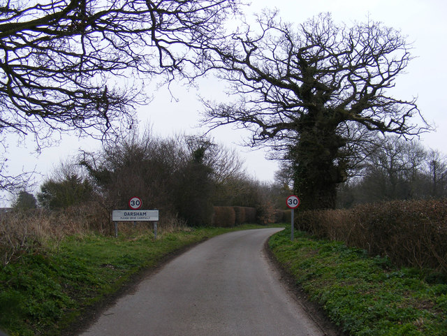 Entering Darsham on Low Road