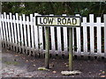 TM4269 : Low Road sign by Adrian Cable