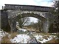 NS4354 : Northern East Ayrshire : Pollick Farm Bridge (Looking SW) by Richard West