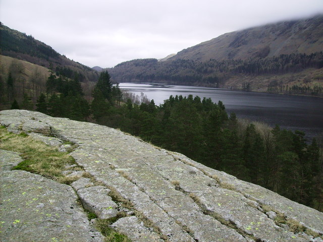 Thirlmere from the top of the Binka Stone