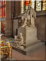 SJ8398 : Manchester Cathedral, Humphrey Chetham Statue by David Dixon
