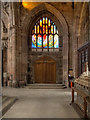 SJ8398 : Manchester Cathedral, South Aisle and Healing Window by David Dixon