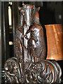 SJ8398 : Kangaroos, Manchester Cathedral by David Dixon