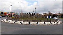 ST1167 : Boulders on a roundabout, Barry by Jaggery
