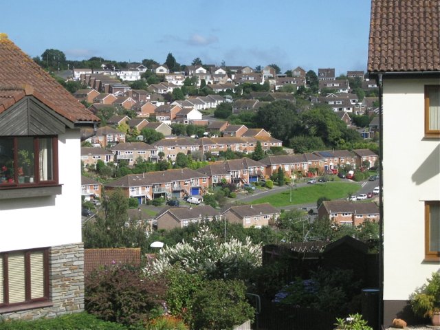 View between houses, Moor View Drive, Teignmouth