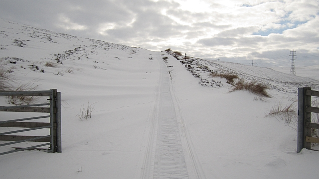 Snowmobile tracks © Richard Webb :: Geograph Britain and Ireland