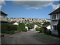SX9274 : Close off Moor View Drive, nos.22-48, Teignmouth by Robin Stott