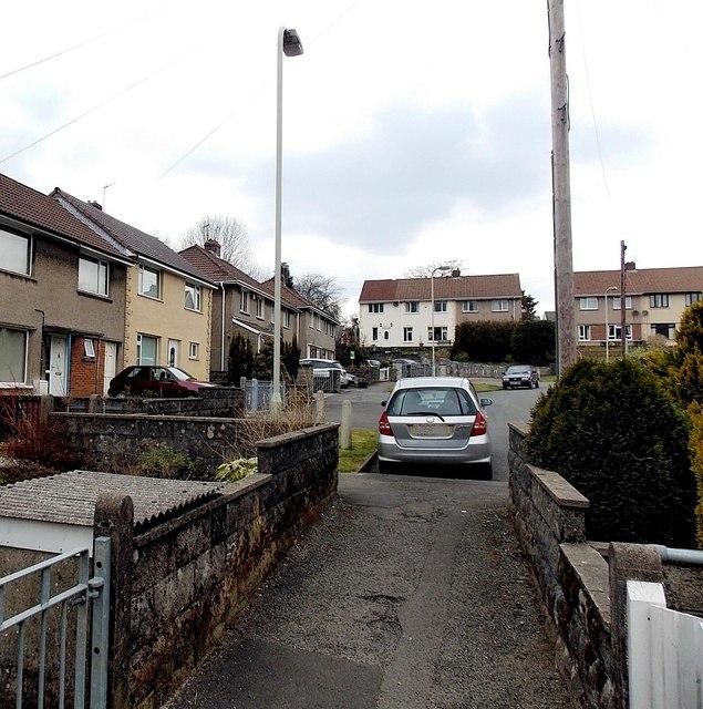 SW end of Church Street, Aberkenfig