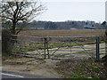 TL1787 : Locked gates near Tea Kettle Barn by Richard Humphrey