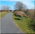 SN4006 : Bench alongside the Wales Coast Path, Kidwelly by Jaggery