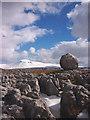 SD7075 : Limestone boulder, Twisleton Scar End by Karl and Ali