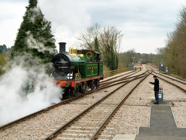 Running round at East Grinstead, Bluebell Railway