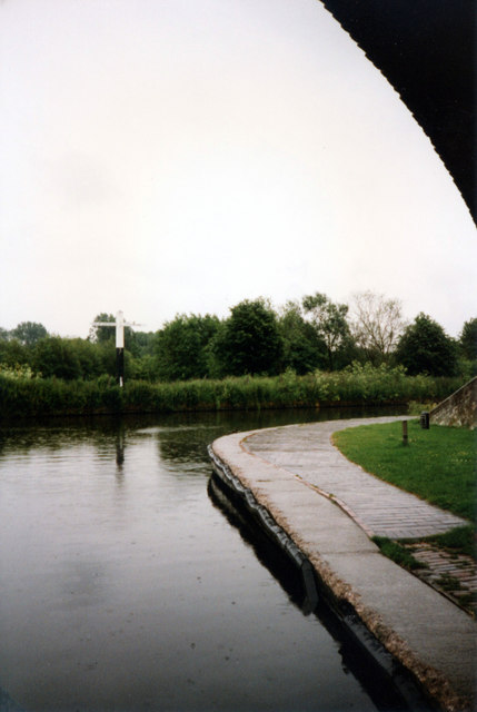 Autherley Junction Shropshire Union Canal with Staffs & Worcester Canal