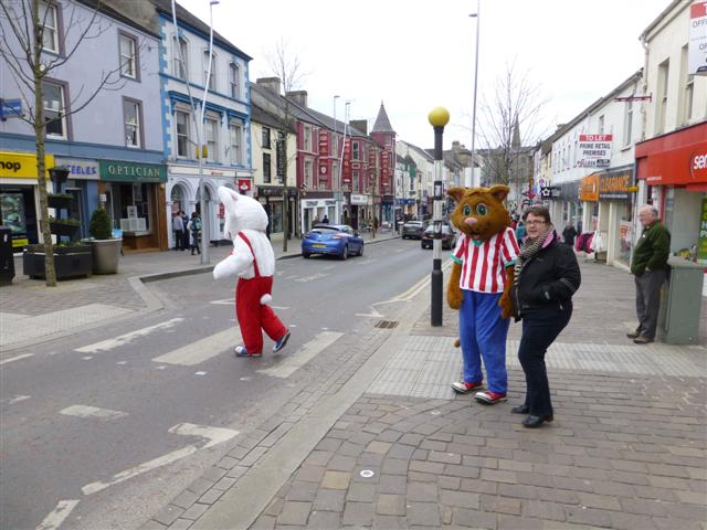 Colourful characters in Omagh
